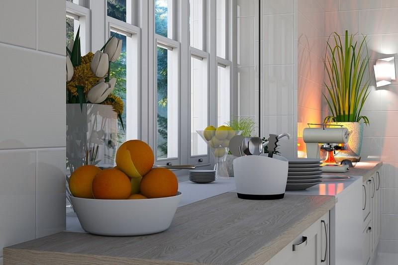 окна на маленькой кухне